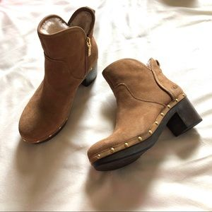 Ugg Natural Tan Leather Booties NWOT
